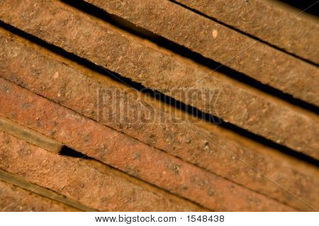 Close Up Of Rusty Metal - Pattern In Warm Evening Light