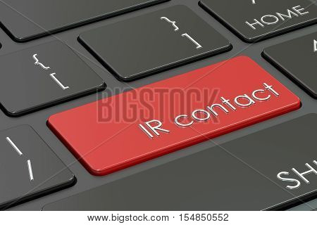 ir contact concept red hot key on keyboard. 3D rendering