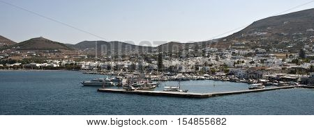 Greece Paros - The port of Parosis also one of the busiest harbours of Greece