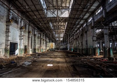 Abandoned factory corps of Agricultural machinery plant named after Stalin in Voronezh