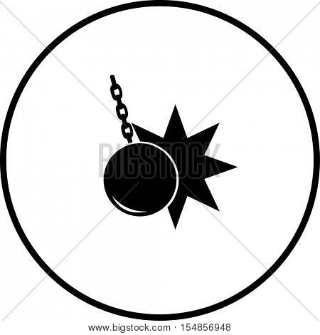 wrecking ball symbol