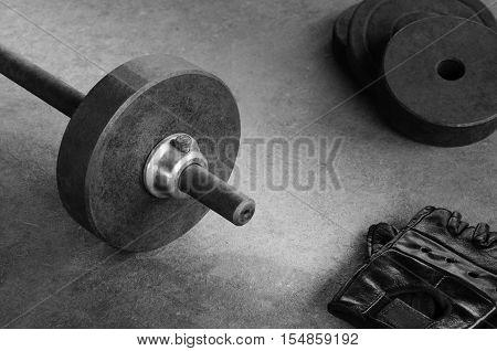 Sport equipment weight iron barbell bar dumbbell