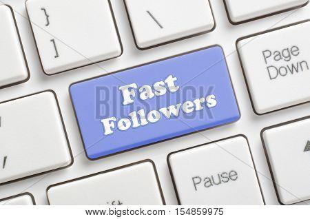 Blue fast followers key on keyboard