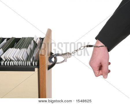 Uomo d'affari intrappolato