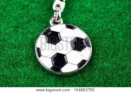 Key Holder With A Soccer Ball In Hand