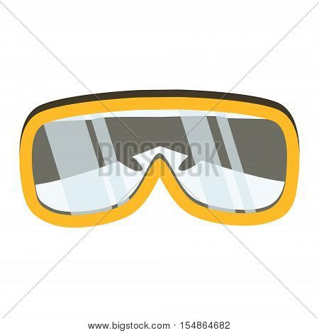 Safety glasses tool icon. Industrial or household instrument for general or utility purposes. Protective eyewear or goggles vector illustration