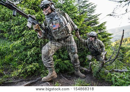 United states army rangers in the mountains