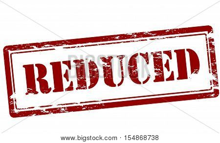 Rubber stamp with word reduced inside vector illustration
