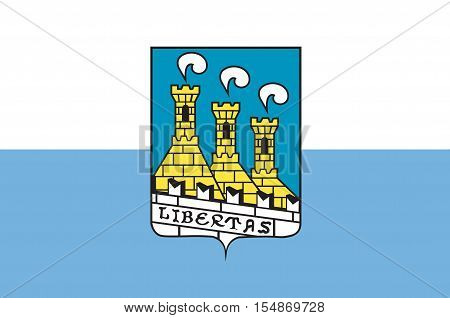 Flag of City of San Marino is the capital city of the Republic of San Marino