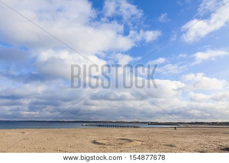 Beach At The Baltic Seacoast In Travemunde, Germany