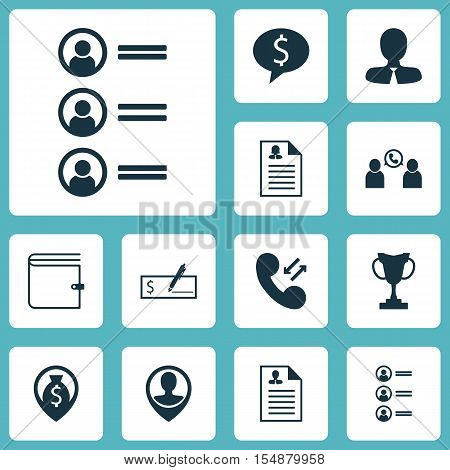 Set Of Hr Icons On Business Deal, Money Navigation And Wallet Topics. Editable Vector Illustration.