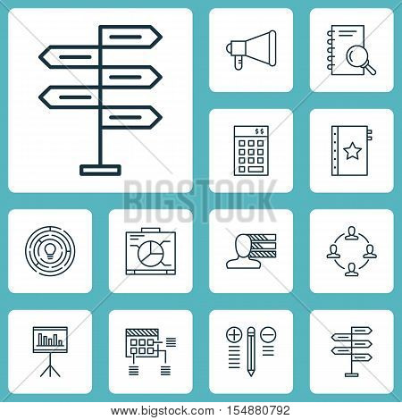 Set Of Project Management Icons On Warranty, Collaboration And Investment Topics. Editable Vector Il
