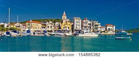 Town of Pirovac panoramic view, Dalmatia, Croatia