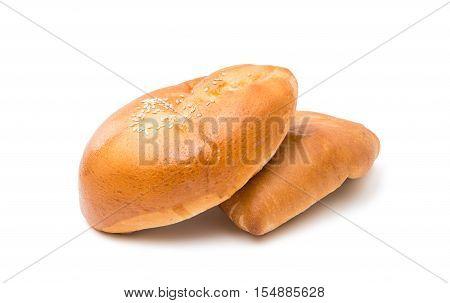 bake Homemade pasty isolated on white background