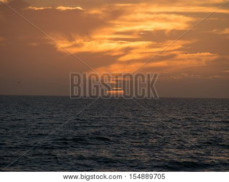 Sunset with Clouds on Sanibel Island near Fort Myers Florida