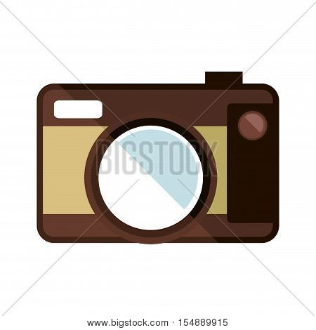 photographic camera device icon ove white background. colorful design. vector illustration