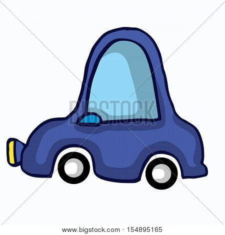 FUnny car style for kids vector illustration