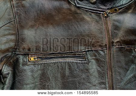 Old black leather jacket closeup  leather, macro, material,
