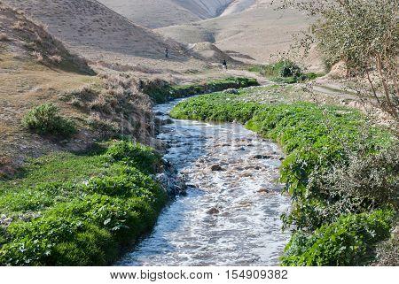 Kidron river in  Kidron Valley, Judean desert. Israel