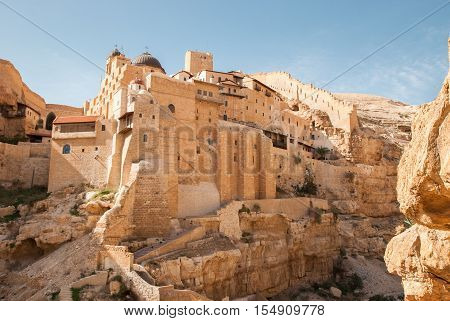 Holy Lavra Of Saint Sabbas The Sanctified, Known In Arabic As Mar Saba