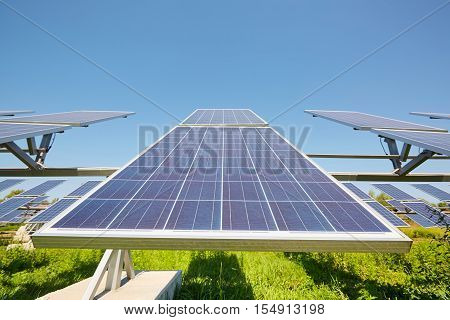 Solar panel .Energy farm electric innovation .