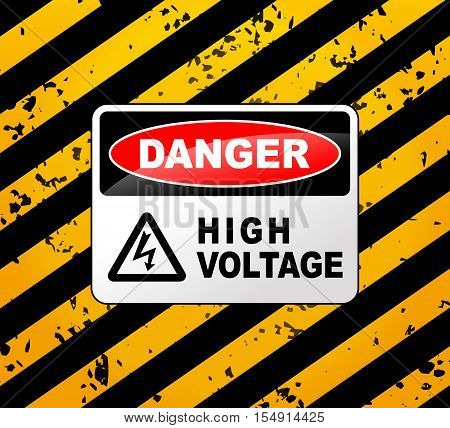 Illustration of high voltage sign design concept