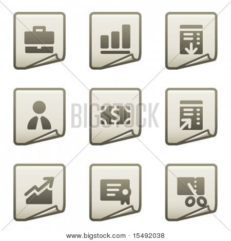 Finance web icons set 1, document series