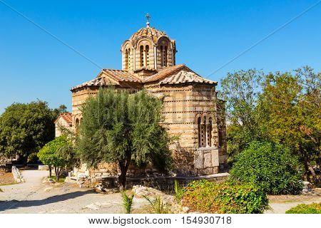 The byzantine church of the Holy Apostles of Solaki in the Ancient Agora of Athens, Greece