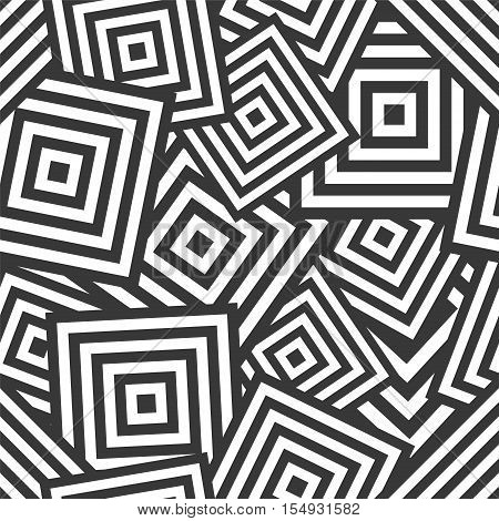 Ыeamless Geometric Pattern - Chaotic Rhombus (squares)
