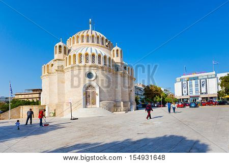 Athens, Greece - October 15, 2016: Church of St. Constantine and Helen in Glyfada, Athens