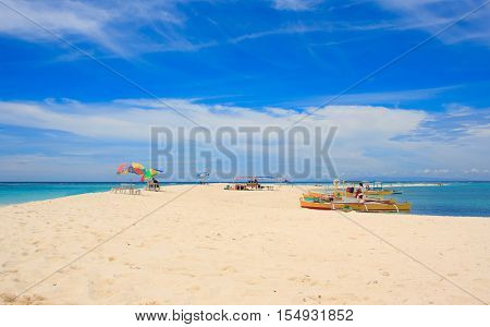On the White island. Camiguin island. Philippines.