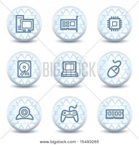 Computer-Web-Icons, glänzend Kreis Schaltflächen