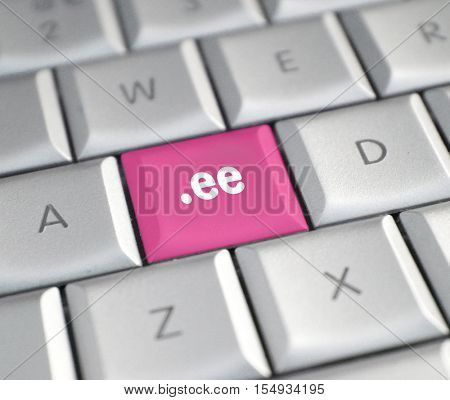 The .ee domain name on a keyboard key