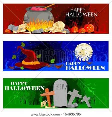 easy to edit vector illustration of Halloween theme background