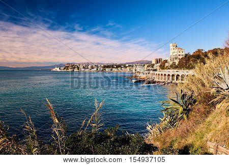 View of Genova. Largest Italian port city