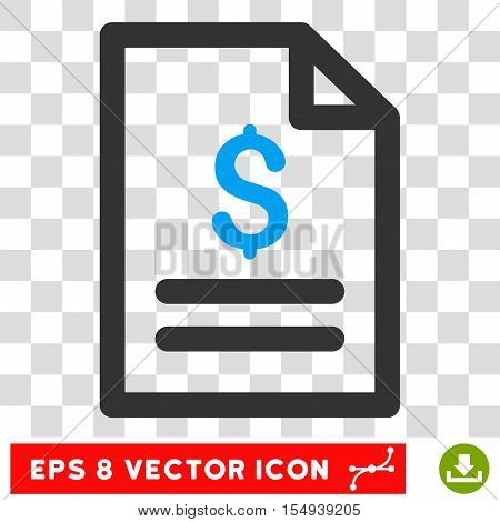 Price List EPS vector pictogram. Illustration style is flat iconic bicolor blue and gray symbol on white background.