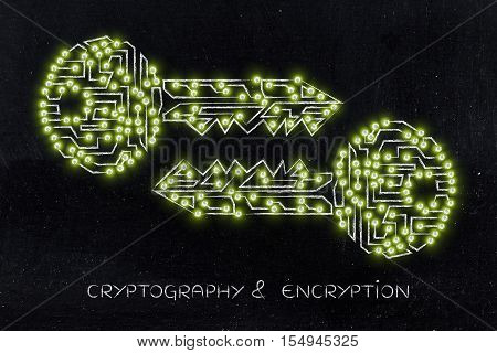 Matching Keys Made Of Circuits & Led Lights, Encryption & Cryptography