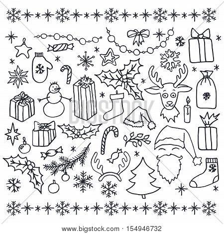 Christmas Doodle Elements