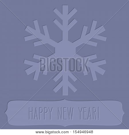 Letterpress Snowflake Frame And New Year Greetings
