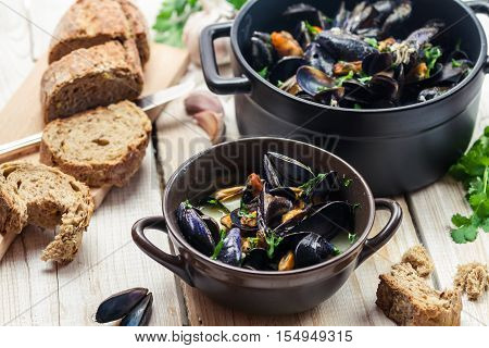 Mussels As A Dinner By The Sea