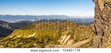 Mountain Landscape. High Tatras Mountains as Seen from Low Tatras Slovakia.