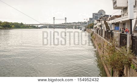 Two bridges on the river Don in Rostov-on-Don