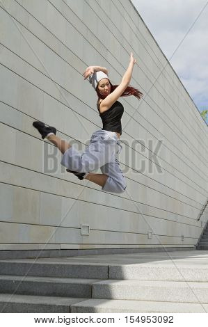 Sport, Dancing And Urban Culture Concept - Beautiful Street Dancer