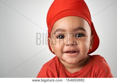 middle eastern arab baby boy portrait