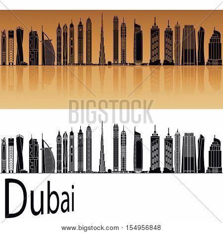 Dubai V2 Skyline In Orange