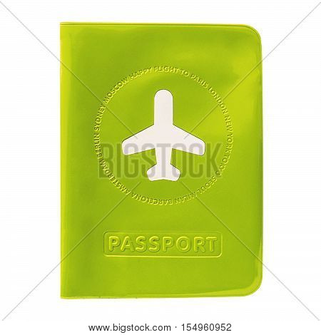 Cover on the passport isolated on white background. International passport