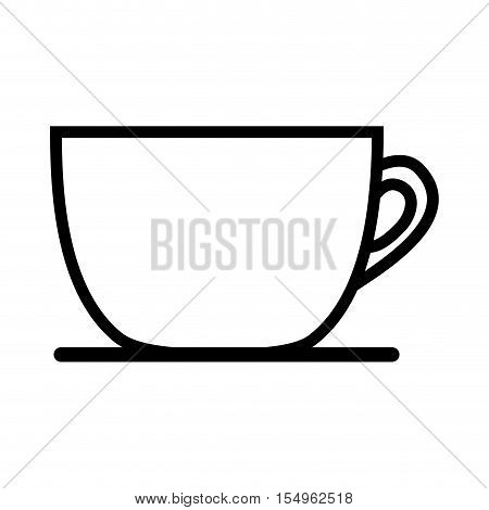 silhouette of coffee mug icon over white background. caffeine drink. vector illustration
