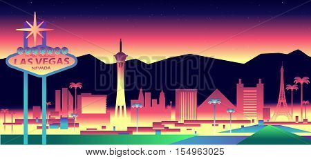 Vector illustration of the city of Las Vegas