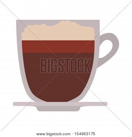 coffee mug icon over white background. caffeine drink. vector illustration