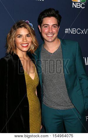 LOS ANGELES - NOV 2:  America Ferrera, Ben Feldman at the NBC And Vanity Fair Toast the 2016-2017 TV Season at NeueHouse Hollywood on November 2, 2016 in Los Angeles, CA